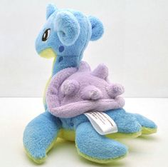 HOT 6  Lapras Pokemon Rare Soft Plush Toy Doll Gift Free Ship