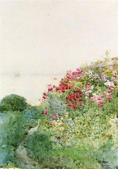 Antelucan Hourglass: simena: Frederick Childe Hassam - Field of...