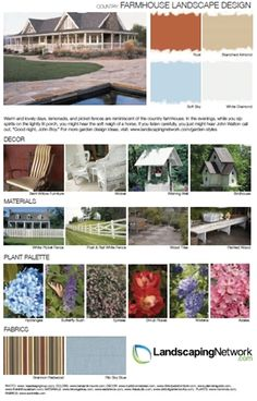 For a printable, high-resolution guide to designing for a farmhouse or country style, visit: http://www.landscapingnetwork.com/garden-styles/Farmhouse-Landscape-Design.pdf