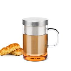 Samadoyo Clear Glass Tea Mug Cup with Stainless Steel Infuser Lid for Loose TeaTea Bag 17 Ounce -- Read more  at the image link.Note:It is affiliate link to Amazon.