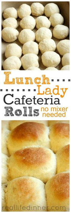 Easy to follow step by step instructions and pictures. Tried and True Roll Recipe that tastes just like the one the lunch ladies made in the school cafeteria. ~ http://reallifedinner.com: