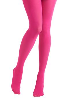 Tights for Every Occasion in Hot Pink - Pink, Solid