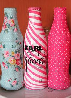 Cómo decorar botellas de cristal con Washi Tape