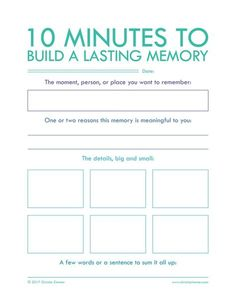 "Minutes To Build A Lasting Memory"" - Printable Journal Pages to help you put your thoughts into words. Journal writing is an important step in not only understanding yourself but also improving your relationships. Journal Prompts, Journal Pages, Writing Prompts, Writing Journals, Art Journals, Memory Journal, Daily Journal, Nature Journal, Journal Ideas"
