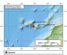 Nuevo terremoto entre Gran Canaria y Tenerife, 13 junio      Lugar del epicentro del terremoto entr...