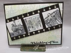 France Martin: Stamp & Scrap with Frenchie: Travler for Masculine Monday - 9/8/14 (SU: Traveler stamp)