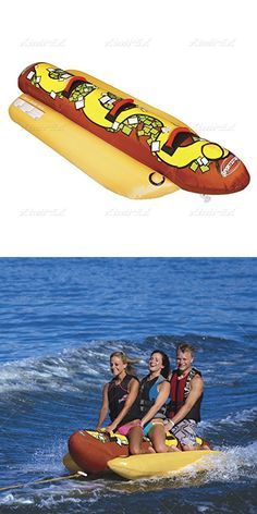 "Kwik Tek HD-3 Airhead/""Hot Dog/"" Towable Water Weenie 3 Rider"