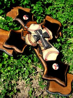 Made with real baseball leather 5 layers. by DeAnn Gould Baseball Cross, Baseball Mom, Baseball Stuff, Baseball Equipment, Football, Hey Batter Batter, No Crying In Baseball, Sport Craft, Team Mom