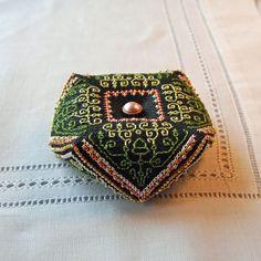 Maggie  Blackwork Embroidery Biscornu by RainburstEmbroidery, $3.00