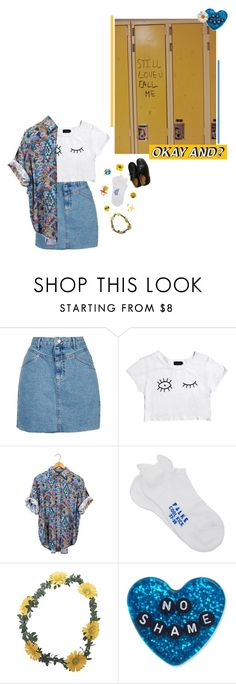 """""""can't find my way home but it's through you"""" by the-cheap-bouquet ❤ liked on Polyvore featuring Topshop, Afends, Falke, Wet Seal, Beta Fashion, Love Quotes Scarves, Sourpuss, DK and Dr. Martens"""