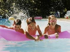Fun Pool Games For Adults | Ensure children use pool toys safely to ensure a mishap-free party.