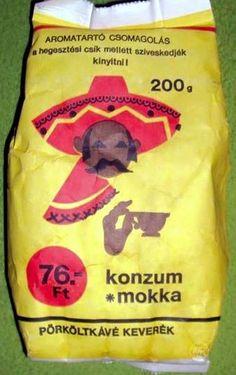 Konzum mokka kávékeverék (80's) Paper Shopping Bag, Vintage, Hungary, Budapest, Facebook, Stars, Mocha, Sterne, Vintage Comics