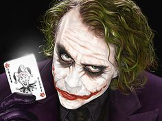 Joker illustration created for Warner Bros.  Painted using Corel Painter 11.