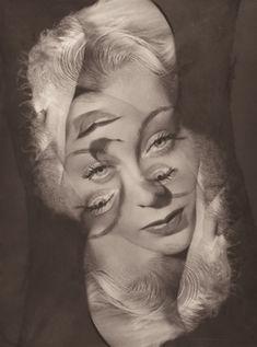 vintagephoto: Experimental portrait of a woman, Philippe Halsman