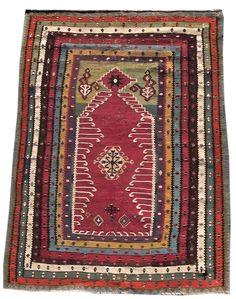 Reyhanli Prayer Kilim rug
