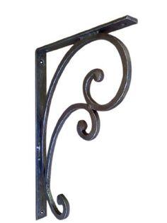shoreline decorative heavy duty iron shelf bracket including granite support black matte by shoreline - Decorative Metal Shelf Brackets