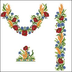 Embroidery Motifs, Cross Stitch Embroidery, Cross Stitch Patterns, Embroidery Designs, Sewing Projects, Projects To Try, Poppies, Needlework, Knitting