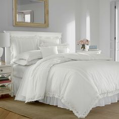 Shop for lace bedding sets at Bed Bath & Beyond. Buy top selling products like Laura Ashley® Annabella Duvet Cover Set and Lucinda Lace Comforter Set. Shop now! Twin Comforter Sets, King Duvet Cover Sets, White Duvet Covers, Duvet Sets, King Comforter, Twin Duvets, Cushion Covers, Laura Ashley, Ashley White