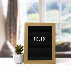 Letter Board with Letters - Project 62 , Gold Wall Art Sets, Wall Art Decor, Vintage Airstream, Airstream Interior, Airstream Remodel, Airstream Renovation, Vintage Campers, Plastic Letters, White Letters