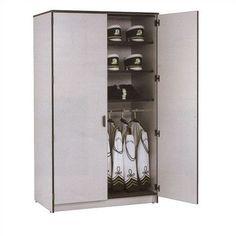 Fleetwood Harmony 1 Tier 1 Wide Wardrobe Storage Locker Body/Trim: Light Oak/Brown, Door Style/Color: Heavy Duty Steel/Gray