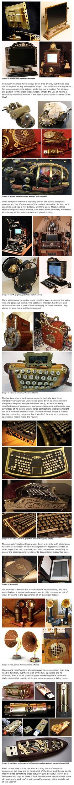 We've rounded up some cool and creative steampunk gadgets, computers.