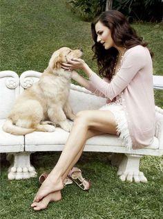 pretty girl with a pretty dog