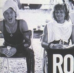 A funny Richie Sambora and Jon Bon Jovi in the early days