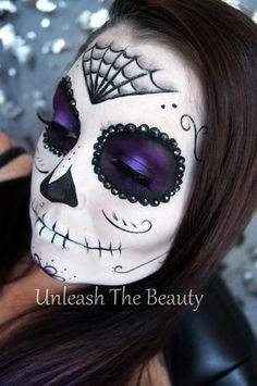 Sugar Skull Makeup Transformation #howto #tutorial