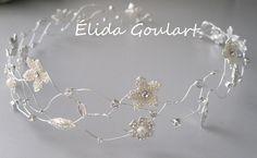 Tiara prata. Acessórios Élida Goulart - contato (031)99191.8404