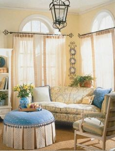 French Living Room Ideas In Cottage Country Design
