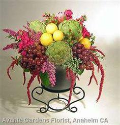 Fruit, Vegetable & Flower Arrangement