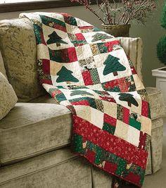 Nine-Patch Christmas Scrap Quilt - free pattern