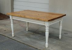 Farm House Table Made From Antique and Salvaged by RepeatOffenders, $550.00