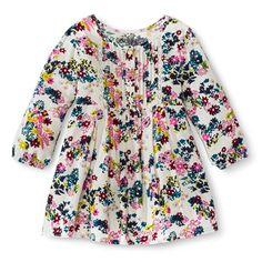 Photos - Infant Toddler Girls' Quarter Sleeve Floral Tunic