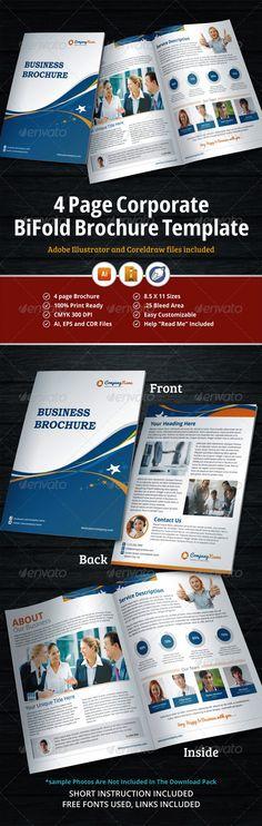 8 page brochure template - golf tournament tri fold brochure template design