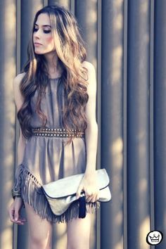Fringe Dress-not everyone could pull this off, but she does.