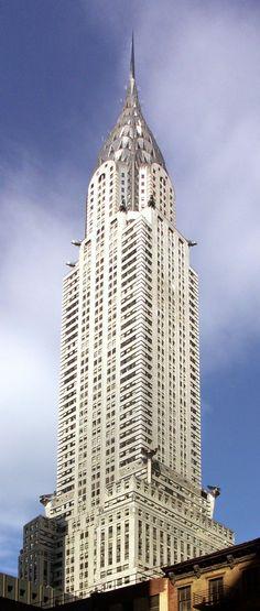 Edificio Chrysler en Nueva York. Rascacielo Art Deco. Símbolo distintivo de la ciudad.