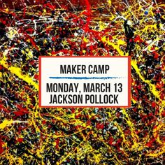Let us help you breathe a sigh of relief this am when you realize you haven't signed your kids up for Spring Break camp yet next week!  Pinspiration is the ultimate destination for our crafty Phoenix makers and shakers! Each day campers will learn about a famous artist and craft coordinating projects and explore art using a variety of art materials inspired by each artist. Artists include Jackson Pollock Andy Warhol Pablo Picasso Leonardo Da Vinci and Vincent Van Gogh.  Spring Break Camp is…