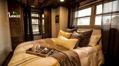 An RV tiny house in Cobleskill, NY. Made by Lil Lodges of Bear Creek, AL, and featured on Tiny House Nation.