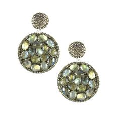 Love these circle stone earrings! Statement Piece