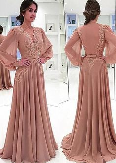 A-line Chiffon V-Neck Long Sleeves Lace Mother of The Bride Dresses, Shop plus-sized prom dresses for curvy figures and plus-size party dresses. Ball gowns for prom in plus sizes and short plus-sized prom dresses for Bridesmaid Dresses, Prom Dresses, Formal Dresses, Wedding Dresses, Chiffon Dresses, Dress Prom, Bridal Gowns, Casual Dresses, Summer Dresses