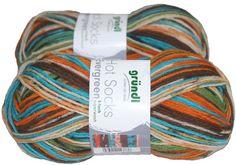 Evergreen 100gr German self striping superwash sock by JuliaLCraft