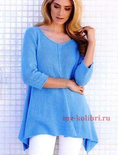 Хотите связать модный свитер? Для вас схемы вязания свитеров, пуловеров, кофточек, регланов спицами и крючком с описанием на русском. Утепляйтесь!