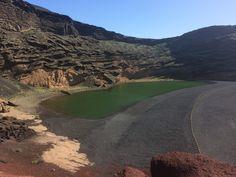 Lago Verde, Lanzarote, Canary Islands.