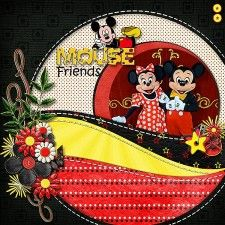 Pals Mickey and Minnie - MouseScrappers - Disney Scrapbooking Gallery