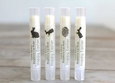 Easter Gift natural lip balm / / / Spring Celebrations, Easter Basket, Easter Accessories, Easter Decorations, Bunnies and eggs chapstick on Etsy, $4.50