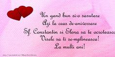 Sf Constantin, Birthdays, Birthday, Anniversaries, Birthday Parties, Birth Day