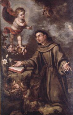 Saint Anthony of Padua and the Child Jesus / San Antonio de Padua y el Niño Jesús // Juan Valdés Leal (Sevilla, 1622 – 1690) // Museum of Fine Arts of Valencia // #Franciscan