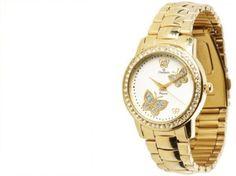 8c99257b22a relógio champion feminino dourado com pedras Relógio Champion Feminino