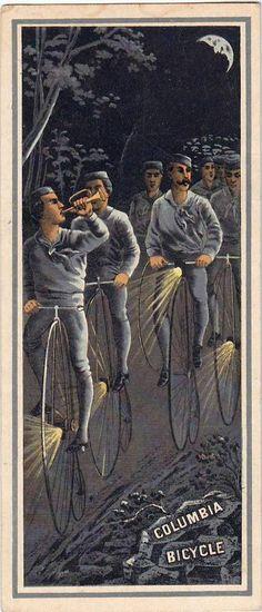 Scarce Pope Mfg Trade Card Advertising The Columbia Bicycle Vintage Prints, Vintage Posters, Bike Illustration, Penny Farthing, Washington Street, Bicycle Art, See Images, Vintage Bicycles, Ephemera